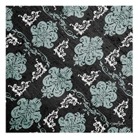 Teal Damask 2 Framed Print