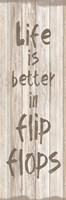 Flip Flops Framed Print
