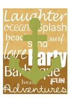 Beach Anchor Framed Print
