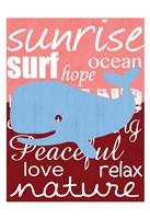 Beach Whale Framed Print