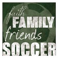 Soccer Friends Framed Print