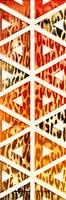 Triangular Animals Bright Mate Framed Print