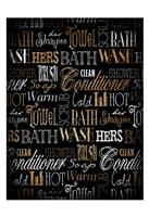 Bath Typography Gold Fine Art Print