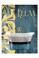 Tub Relax Framed Print