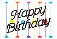 Happy Birthday Dots Framed Print