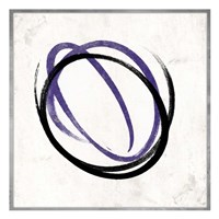 Abstract Circle Purple Framed Print