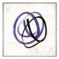 Abstract Circle Mate Purple Framed Print