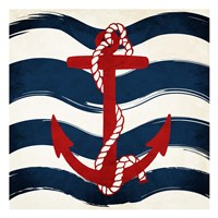 Anchor Waves Fine Art Print