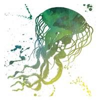 Jellyfish Splatter Fine Art Print