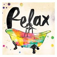 Relax Colorful Bath Framed Print