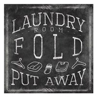 Chalkboard Laundry Mate Fine Art Print