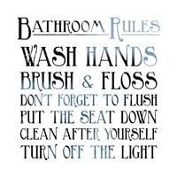 Bathroom Rules Fine Art Print