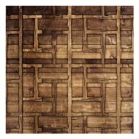 Wood Chip Pattern Framed Print