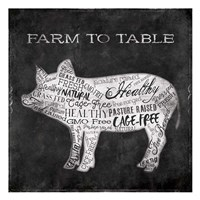 Farm To Pig Fine Art Print