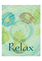 Relax Flora Framed Print