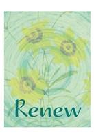 Renew Flora Framed Print