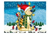 Christmas Cat Fine Art Print
