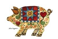 Festive Pig Fine Art Print