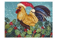 Mr Christmas Rooster Fine Art Print