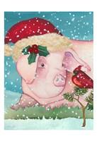 Sir Christmas Pig Fine Art Print