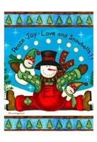Love And Snowballs Fine Art Print