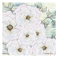 White Water Flowers 1 Fine Art Print