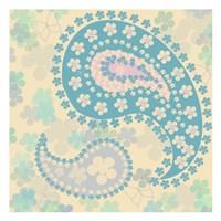 Pastel Paisley 1 Fine Art Print