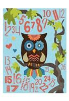 Owl Set Numlet 2 Framed Print