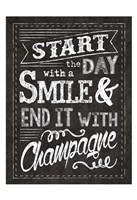 Champagne Champ Chalkboard 2 Framed Print