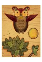 Texture Owls 04 Framed Print