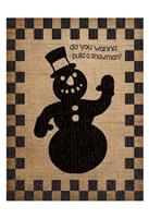 Burlap Christmas 2 Fine Art Print