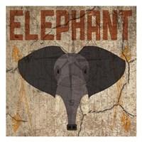 Safari Set 3 Elephant Framed Print