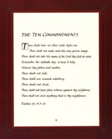 Ten Commandments - red frame Fine Art Print