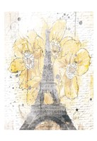 Eiffel Bloom Yellow Fine Art Print
