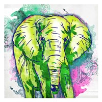 Elephant Henna Framed Print