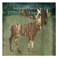 Moose In The Field Fine Art Print