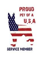 Patriotic Pet Framed Print