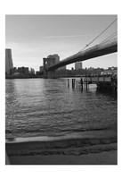 Magical Evening @ Brooklyn Brdg Framed Print