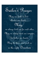 Sailor's Prayer 2 Framed Print