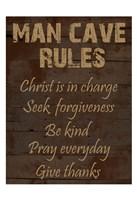 Religious Man Cave Fine Art Print