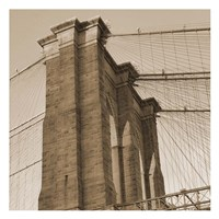 Sepia Brooklyn Bridge Fine Art Print