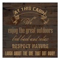 At This Cabin Framed Print