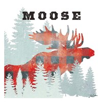 Moose Plaid Fine Art Print