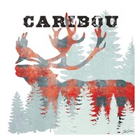 Plaid Caribou Fine Art Print