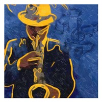 Sax Blues Fine Art Print