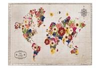 Floral Map Fine Art Print