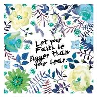 Floral Bigger Faith Framed Print