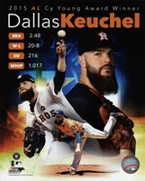 Dallas Keuchel 2015 American League Cy Young Winner Portrait Plus Framed Print