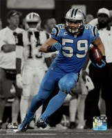 Luke Kuechly 2015 Spotlight Action Framed Print