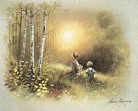 Kids in the Woods Fine Art Print